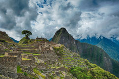 Machu Picchu beautiful panorama overview Royalty Free Stock Image