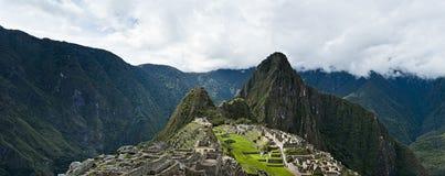 Machu Picchu beautiful panorama overview Stock Photos