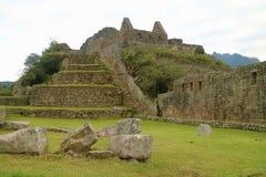 Machu Picchu, Beroemde Oude Citadel van Inca in vroege ochtend, Archeologische plaats in Cusco-Gebied, Urubamba-Provincie, Peru royalty-vrije stock afbeeldingen
