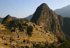 Machu Picchu bij dageraad Stock Foto's