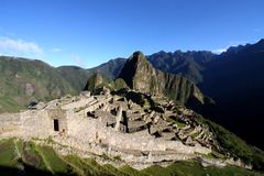 Machu Picchu citadell, Peru, Sydamerika Royaltyfri Bild