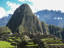 Machu Picchu City Aerial View Royalty Free Stock Photography