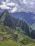 Machu Picchu City Aerial View Stock Photography