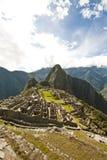 Machu Picchu. Classic view of the Inca citadel of Machu Picchu stock photography