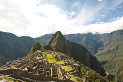 Machu Picchu. Classic view of the Inca citadel of Machu Picchu royalty free stock photo