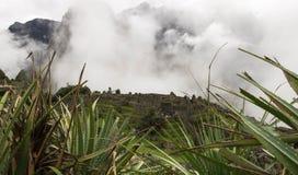 Machu Picchu com o esclarecimento foto de stock royalty free