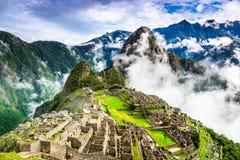 Machu Picchu, Cusco - Peru. Machu Picchu, Peru - Ruins of Inca Empire city, in Cusco region, amazing place of South America Stock Image