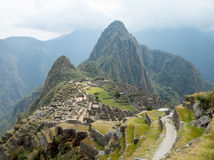 Machu Picchu in the Cusco region of Peru Royalty Free Stock Photo