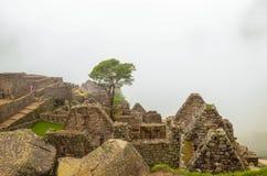 MACHU PICCHU, CUSCO REGION, PERU- JUNE 4, 2013: Details of the residential area of the 15th-century Inca citadel Machu Picchu Stock Photos