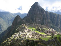 Machu Picchu dalla Camera di protezione fotografie stock