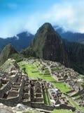 Machu Picchu - de huizen & de terrassen van het steenmetselwerk. Peru Royalty-vrije Stock Afbeeldingen