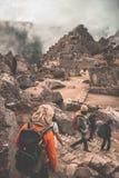 Machu Picchu de verloren stad van Incas Imagen royalty-vrije stock afbeeldingen