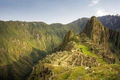 Machu Picchu, den forntida Incastaden, Peru Arkivfoton