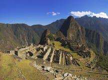 Machu Picchu in der weichen Morgensonne Lizenzfreies Stockfoto