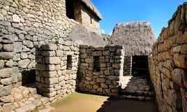 Machu Picchu, die verlorene Inkastadt in Peru Stockbild