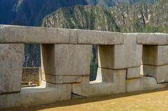 Machu Picchu drei Fenster Stockbild