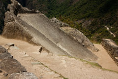 Machu Picchu. Dubbed The Slide, located outside the Temple of the Condor Royalty Free Stock Photography