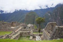 Machu Picchu e montagne delle Ande Fotografia Stock Libera da Diritti