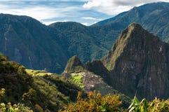 Machu Picchu eine Überansicht lizenzfreies stockfoto