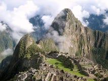 Machu Picchu en début de la matinée image libre de droits
