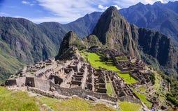 Machu Picchu, en peruansk historisk fristad i 1981 och en UNESCOvärldsarv i 1983 En av de nya sju underna av Arkivbild
