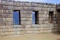 Machu Picchu, en peruansk historisk fristad i 1981 och en UNESCOvärldsarv i 1983 En av de nya sju underna av Royaltyfri Foto