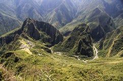 Machu Picchu en Urubamba-rivier, Peru Royalty-vrije Stock Afbeelding
