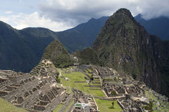 Machu Picchu en Wijn Picchu Stock Afbeelding