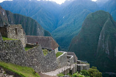 Machu picchu entrance area Royalty Free Stock Images
