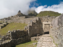 Machu Picchu entrance door Royalty Free Stock Images
