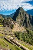 Machu Picchu fördärvar peruanen Anderna Cuzco Peru Royaltyfria Foton