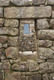 Machu Picchu Fenster Lizenzfreie Stockfotos