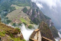 Machu Picchu and Fog Royalty Free Stock Photo