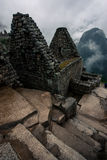 Machu Picchu. Foggy morning at Machu Picchu Royalty Free Stock Photo