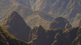 Machu Picchu från avståndet arkivbild