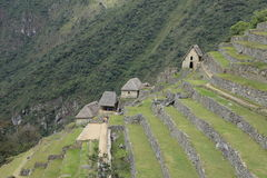 Machu Picchu the hidden Inca City in the clouds Stock Image