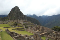 Machu Picchu the hidden Inca City in the clouds Royalty Free Stock Photos
