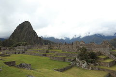 Machu Picchu the hidden Inca City in the clouds Royalty Free Stock Photography