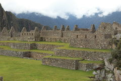 Machu Picchu the hidden Inca City in the clouds Stock Photos