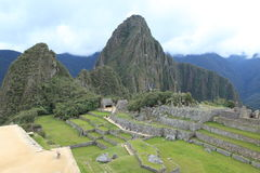 Machu Picchu the hidden Inca City in the clouds Royalty Free Stock Image