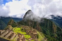 Machu Picchu. Historic Sanctuary of Machu Picchu, in Peru. This ancient city is anunique testimony to Inca civilization Royalty Free Stock Images