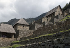 Machu Picchu, houses of guards Stock Photo