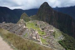 Machu Picchu with Huayana Picchu in Cusco, Peru Stock Image
