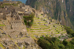 Machu Picchu and Huayna Picchu Royalty Free Stock Images