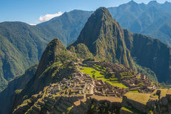 Machu Picchu and Huayna Picchu. In Peru Stock Photography