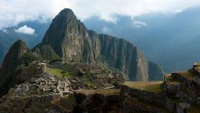 Machu Picchu, Huayna (Wayna) Picchu behind it. Royalty Free Stock Photo