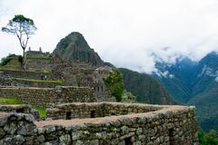 Machu Picchu, Inca city, Peru, 02/08/2019 royalty free stock photo