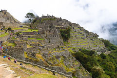 Machu Picchu Inca Ruins in the cloud Royalty Free Stock Image