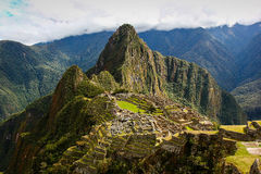 Machu Picchu Inca ruins. Peru's most famous landmark Stock Photography