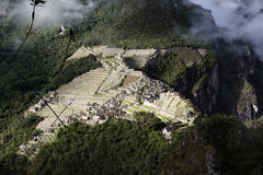 Machu Picchu Inca Ruins Seen From Huayna Picchu Royalty Free Stock Photography